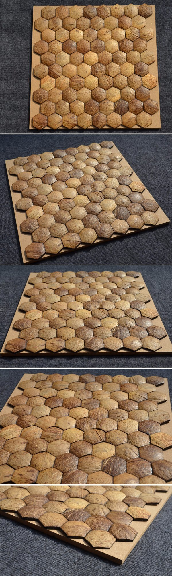 for Wall Decoration Natural Coconut Shell Mosaics Designs Coco Mosaic