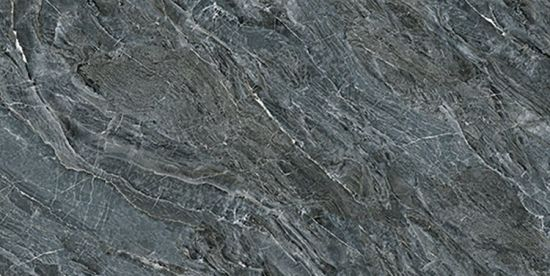 Dark Grey Glazed Artificial Stone Tile Customized Size HKP715206C