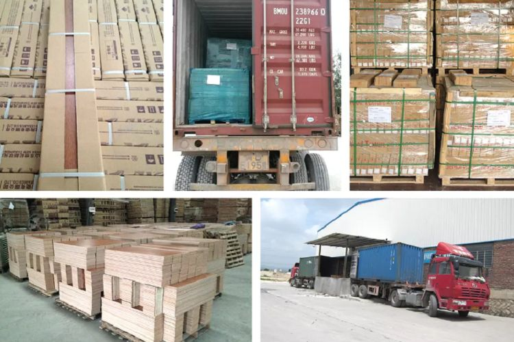 wood ceramic tiles packing and shipping