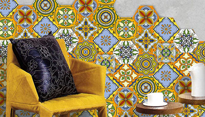 Coloured Floor & Wall Tiles