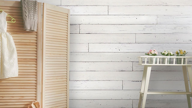 White Wood Wall Tiles