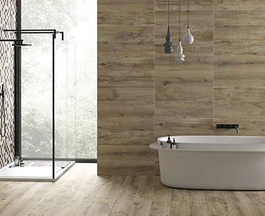 Wood Look Bathroom Tile
