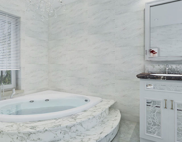White Glazed Ceramic Tile