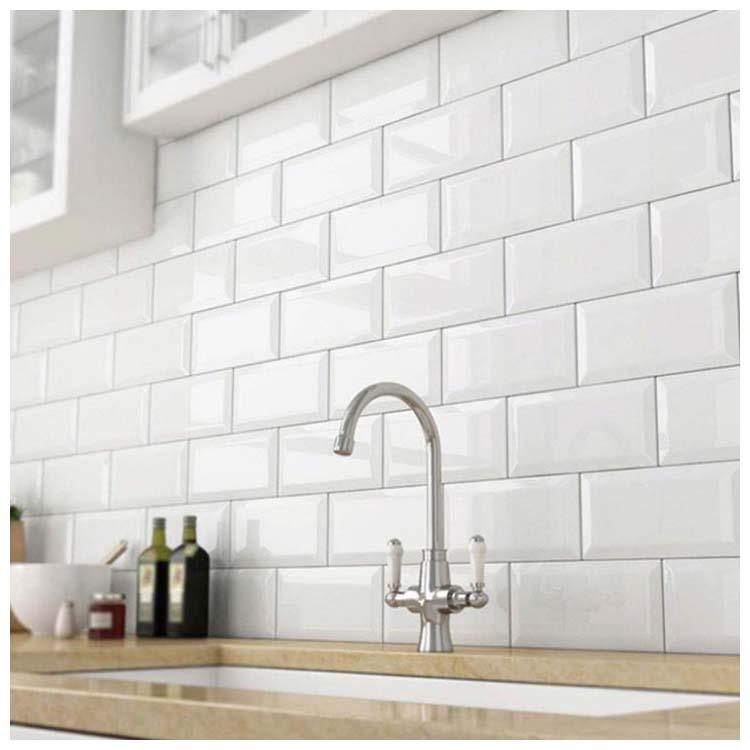 White Glazed Ceramic Wall Tiles Size