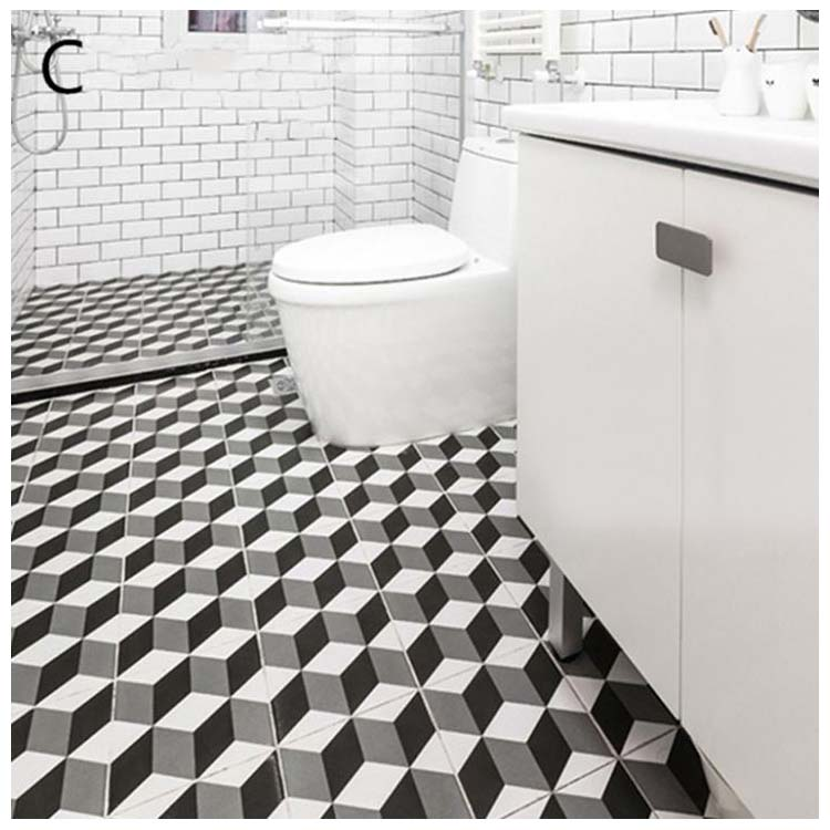 Black Glazed Ceramic Floor Tiles Size