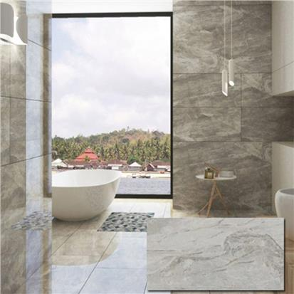 Light Grey Polished Porcelain Wall Tile 900 x 1800mm BG189R09-80