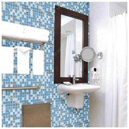 Blue Polished Glass Mosaic Tile 300 x 300mm FD-88