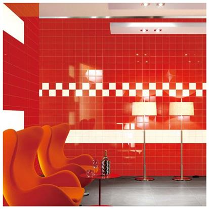 Red Glazed Ceramic Wall Tile 200 x 200mm HS-M2210