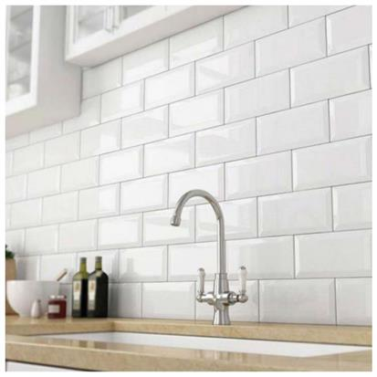 White Glazed Ceramic Tile 75 x 150mm HS-M751500P