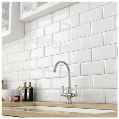 White Glazed Ceramic Tile 75 x 150mm HS-M751500X
