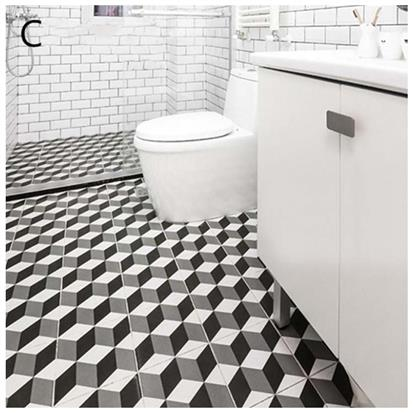 Black Glazed Ceramic Floor Tile 300 x 300mm HSK6001