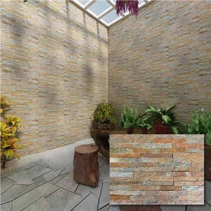 Brown Matte Artificial Stone Tile 150 x 600mm HS-ZT012
