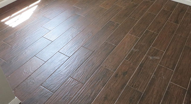 Ly Grout On Wood Look Tile Floor