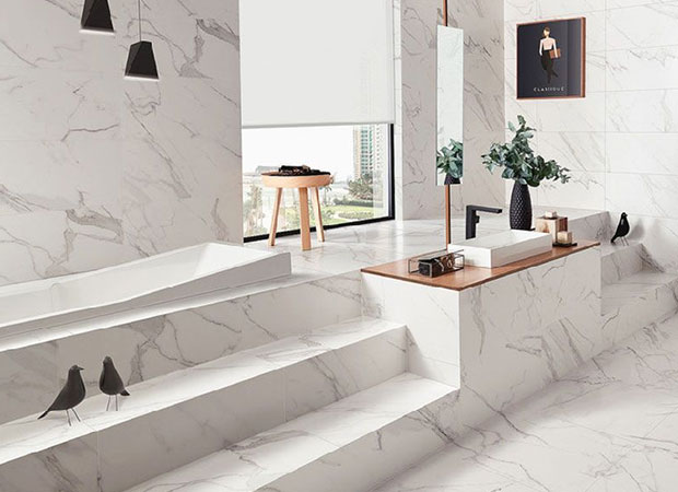Marble Vs Look Tiles Flooring, Marble Bathroom Tiles Pros And Cons