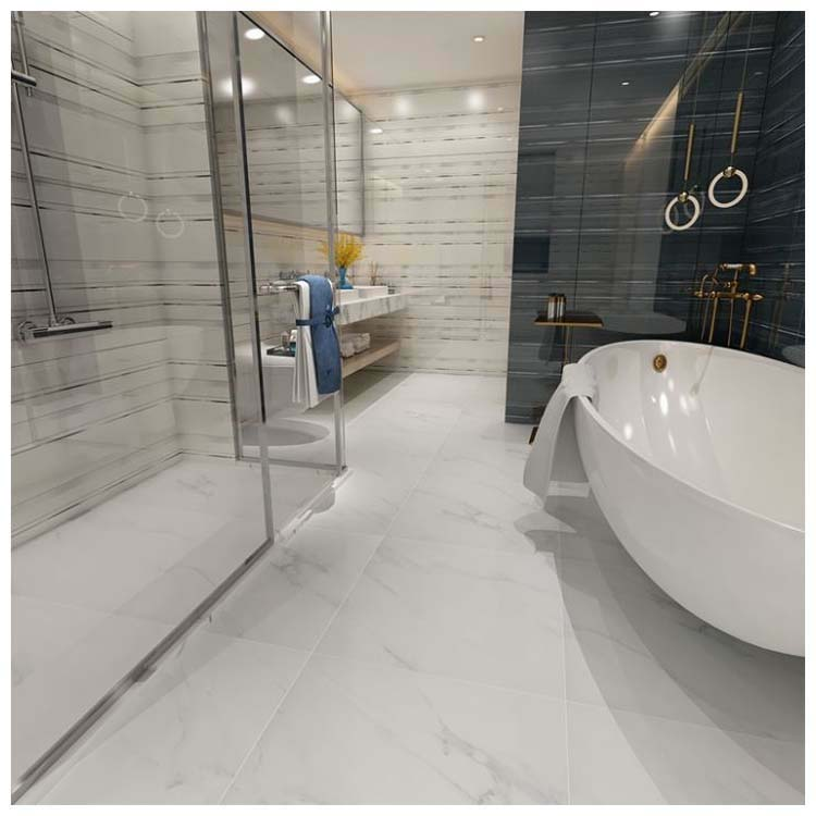 White Polished Porcelain Floor Tiles Size 600 X 600mm Model Hm6903m Hanse Tiles Products